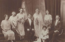 Immediate wedding party, the marriage of..