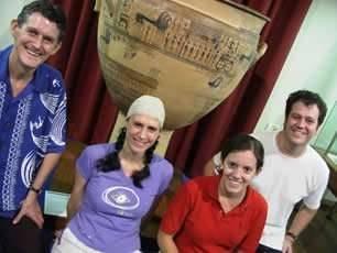 Lita Poulos - member - Australian Paliochora-Kythera Archaeological Survey   - Education Officer - Nicholson Museum, Sydney University - Lita Diacopoulos - Amongst fellow Education Officers at the Nicholson Museum Sydney University