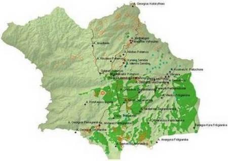 Churches of Kythera. A Map. - Churches of Kythera