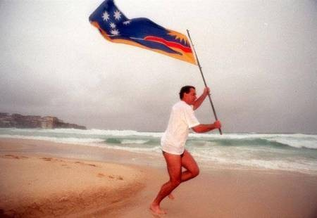 George C Poulos. The man behind the Flag. - Bondi Beach Flag Running