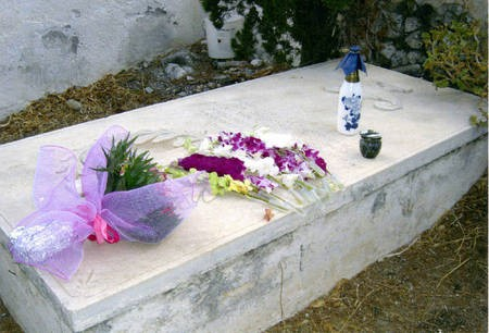 Sept 2008. (4) Toki Koizumi, the grandson of Lafcadio Hearn visits Kythera to pay homage to his grandparents. - Hearn004