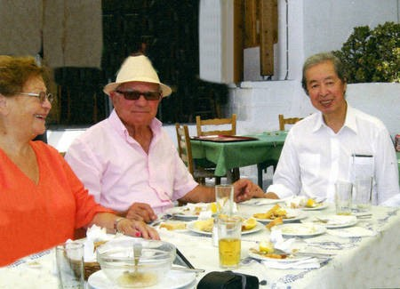 Sept 2008. (6) Toki Koizumi, the grandson of Lafcadio Hearn visits Kythera to pay homage to his grandparents. - Hearn008