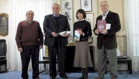 Visit of Ms Soko Koizumi to Lefkada - Hearn episkepsi-eustathiou-2A
