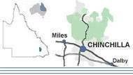 Chinchilla in relation to Queensland and Australia