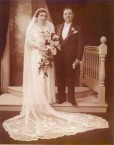 Jim and Penelope Castrisos on their wedding day.