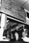 Mr and Mrs Poulos, owner/managers of Caph's cafe in Manuka, Canberra.