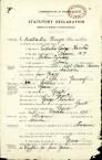 Statutory declaration from Eustratios (Stratos) Haritos' application for naturalisation, Darwin, 1929.