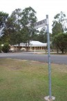 Kythera Close signpost, leading to a Property Development by Arthur Bernard. Grafton, NSW.