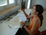 John Stathatos: Chrysoula Fatseas working on the Fatseas Archive, July 2006