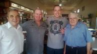 Chris Plumidis former Civic cafe and Tamworth cafe, Tamworth owner, Nick and Nick Travassaros with Paul Calokerinos