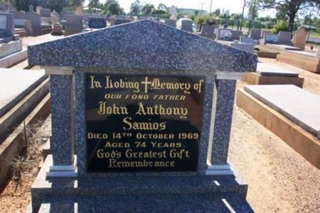 John Anthony Samios. Headstone. Old Dubbo Cemetery.