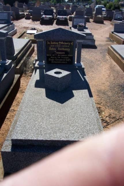 John Anthony Samios. Gravesite. Old Dubbo Cemetery.