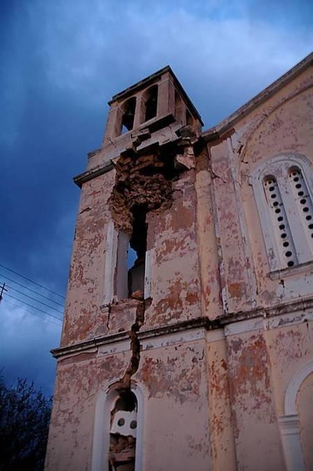 Earthquake of 8.1.2006 - Mitata church