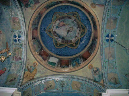 Frescoes on the roof of the Church of the Virgin Mary of Ilariotissa.