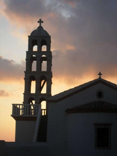 The beautiful little church of Ayios Spyridonas in the village of Kalokerines.