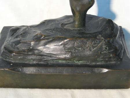 Emmanuel Cavacos Signature at the base of sculpture, 1915