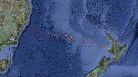 Australia to New Zealand by Kayak - the Route Map