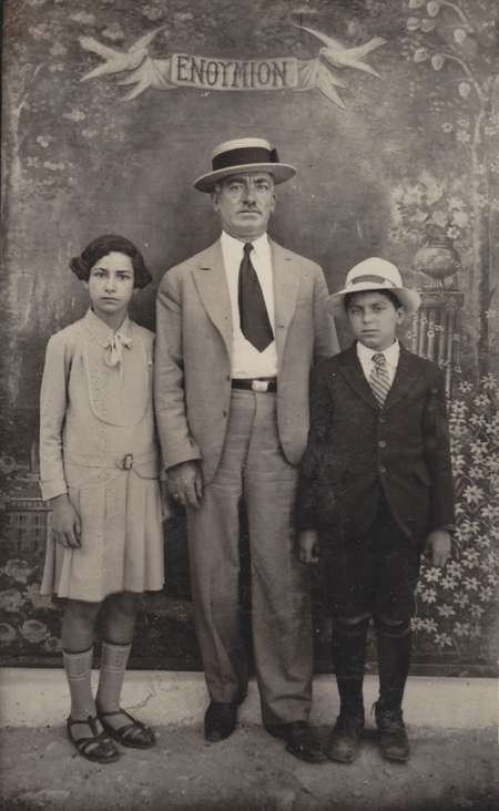Mr Panarettos with one of his daughters and Chris Mathers (Mavromatis)