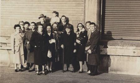 Diana Lianos (later, Rudkin) leaving for America. 1946. Circular Quay, Sydney