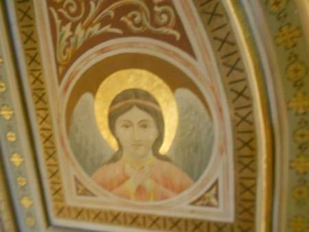 An icon from the roof of Myrtidiotissa