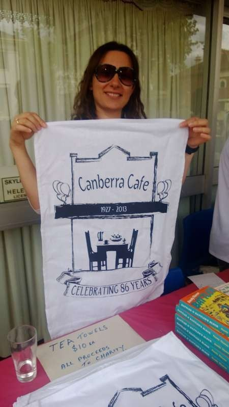 The Canberra Cafe tea towels were one of the great hits