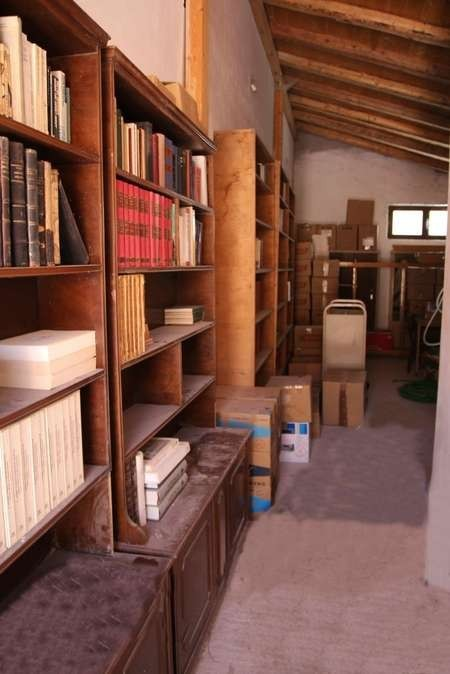 This is the entry and passageway into the large storage area in the Kytherian Municipal Library