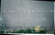 Headstone of Yanoula Koulentianos Chlentzos, Los Angeles, California USA