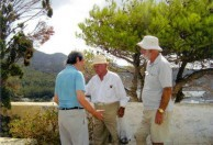 Sept 2008. (3) Toki Koizumi, the grandson of Lafcadio Hearn visits Kythera to pay homage to his grandparents.