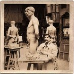 Emmanuel Andrew Cavacos in his Paris Studio