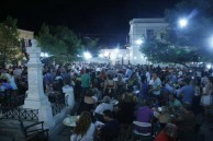 '' packed platia''