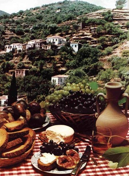 View across food to Karavas.