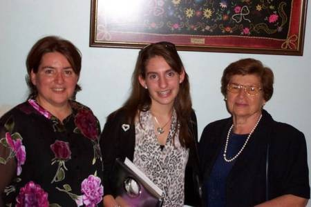 Gloria Dimopoulos, daughter, Thespina Dimopoulos, and mother-in-law, Poppy Crithary.