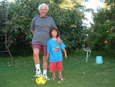 Papou Alex Poulos (Georgopoulos) with his grandson Alexander