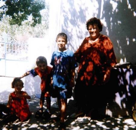 Evangalia (Tzortzo)Poulos (nee, Koroneos), with the children of Gina Kalokerinos, of Greystanes, Sydney, and later Holland.
