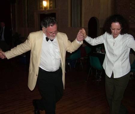 Peter Prineas dancing with sister Sophia Alexander