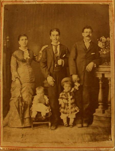 Giorgos and Spirithoula Alfieris, with children Maria and Panayiotis  1887