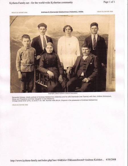 Bishop Gavriil Kalokairinos and Family