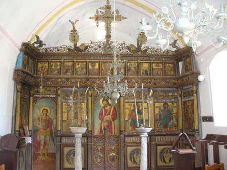 Interior, Agios Anargrios, Potamos - religious artwork
