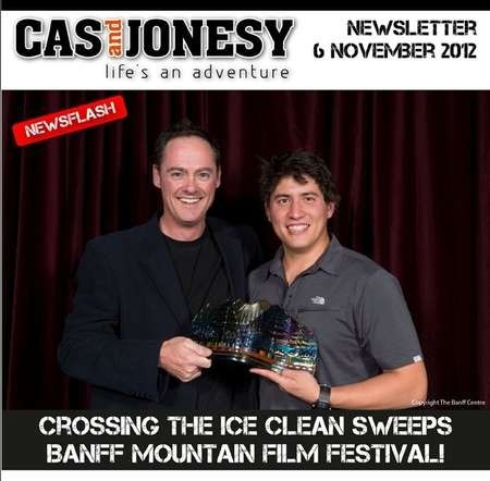 Crossing the Ice wins 3 awards at the Banff Mountain Film Festival 2012