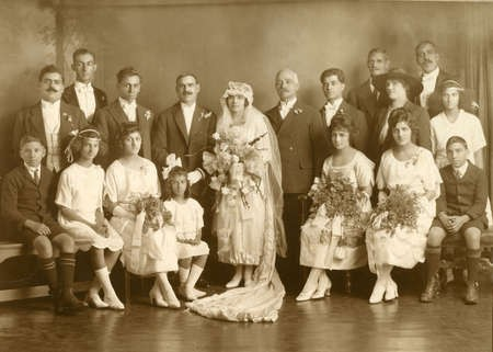 Wedding of Menas (Mick) Megaloconomos to Mary Lekatsas in 1921