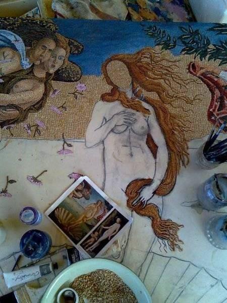 Birth of Venus mosaic by Andonis Georgopoulos - n539027237_353447_4440