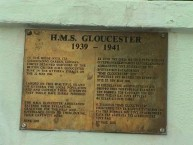 HMS Gloucester Thank you Plaque