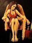 Peter Sophios - Girl with Boa Acrylic