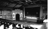 Athenium Theatre, Junee, view towards the Stage from High Reserve area.