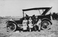 Nicholas Veneris, farmer at Many Peaks, Queensland, photographed with family, ca. 1920.