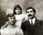 Evangelos Megaloconomos (Caponas), Auguste (Gussie) and Ruby