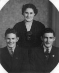 Ruby (Hericlea) Megaloconomos (family nickname -Caponas) and her young brothers Micky (Michael - right) and Peter (left)