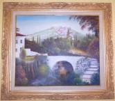 Theo(thosios) Corones, Belos, artist. An idealistic impression of Karavas.