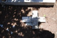 FRAGMENT OF A CROSS UNIDENTIFIED.-----CEMETERY PANAGIA DESPINA.