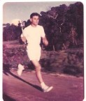 Con Comino with Olympic Torch 1956